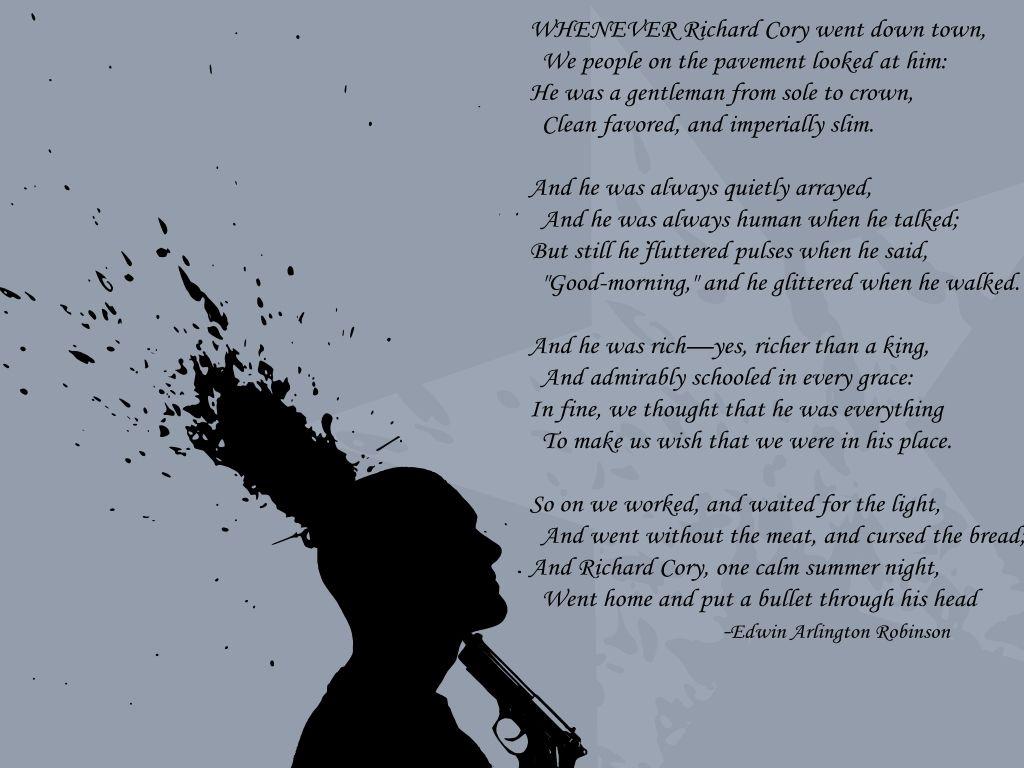Richard Cory By Edwin Arlington Robinson Lightning Bolt Moments