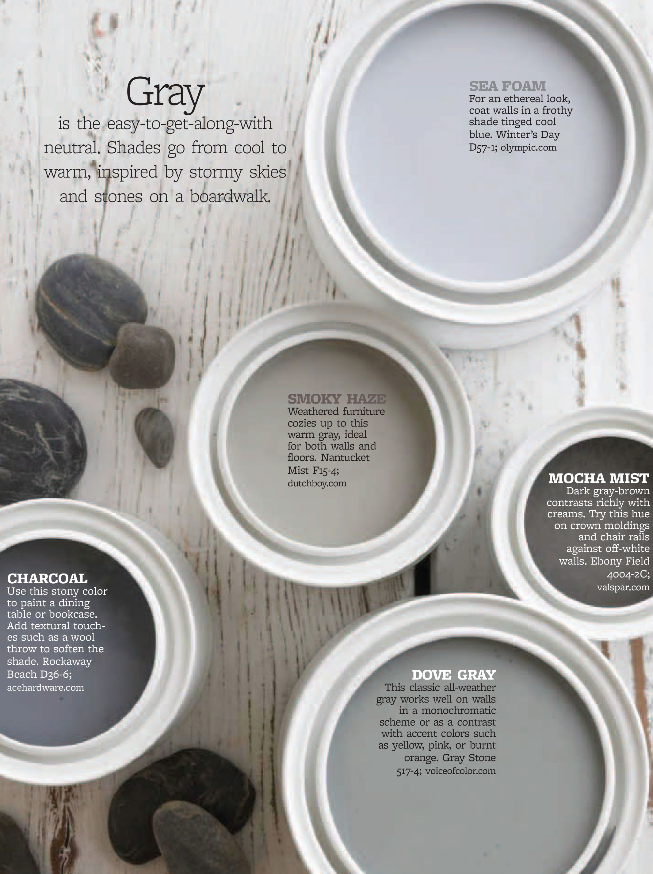 Better Homes And Gardens Gray Bhg Color Palettes Pinterest Gray Gardens And House