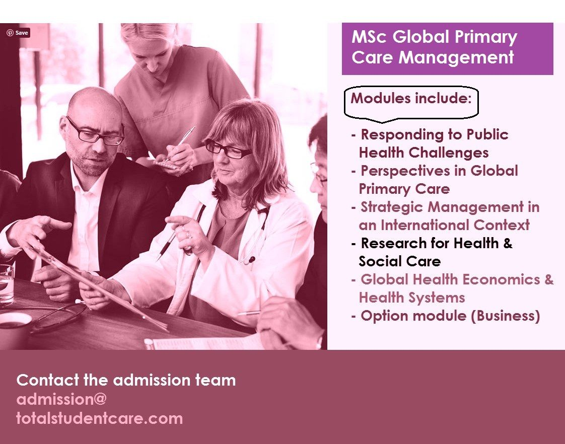 Msc global primary care management study in the uk