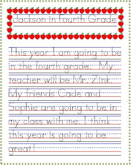 back to school thoughts handwriting practice idea from startwrite improving handwriting. Black Bedroom Furniture Sets. Home Design Ideas