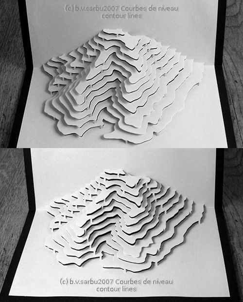 Contour Line Drawing Pdf : And another kirigami at the time i thought making a paper