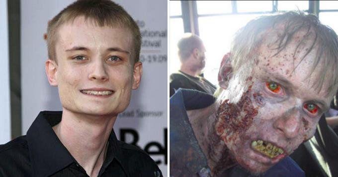 Avant après le maquillage des zombies dans la série walking dead