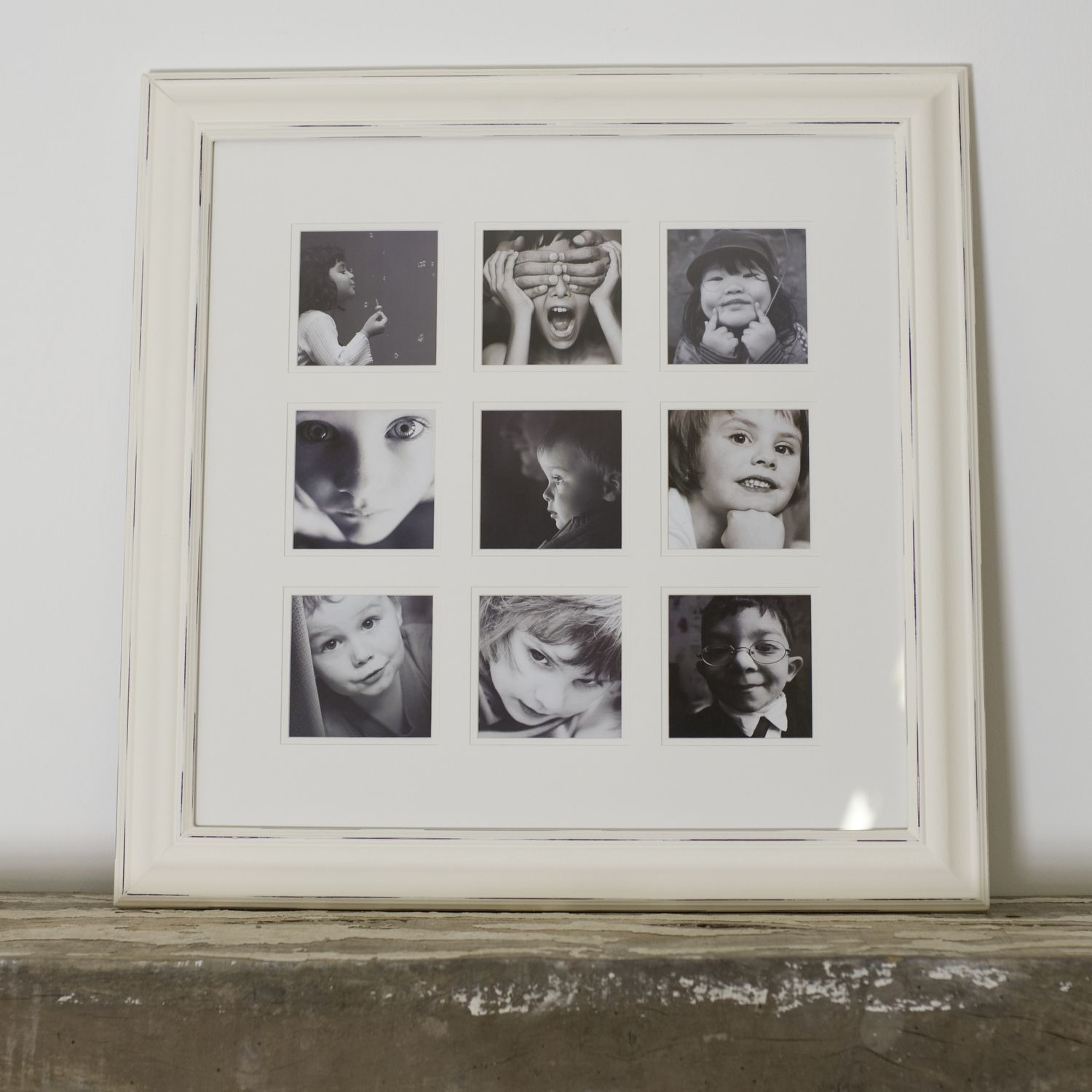 Multiframe distressed nine shabby chic picture frame the orchard multiframe distressed nine shabby chic picture frame jeuxipadfo Images