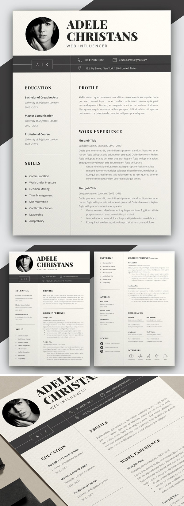 40+ Professional Word Resume Templates in 2020 Resume