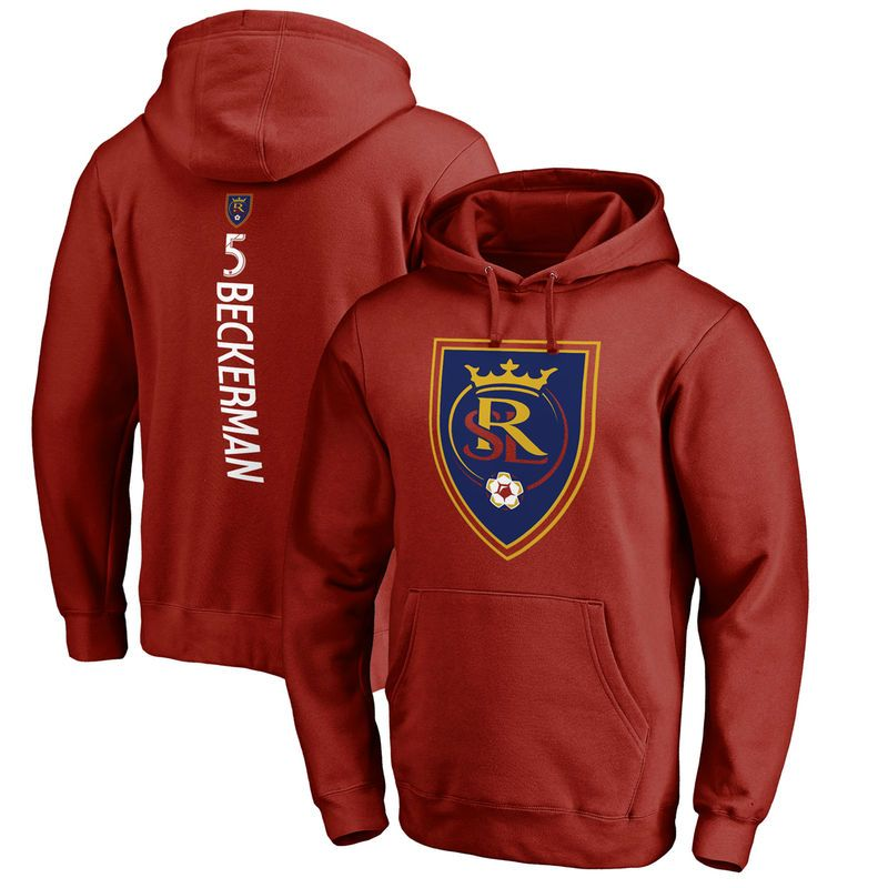 70295f1bfd4 Kyle Beckerman Real Salt Lake Fanatics Branded Backer Name   Number Pullover  Hoodie - Red