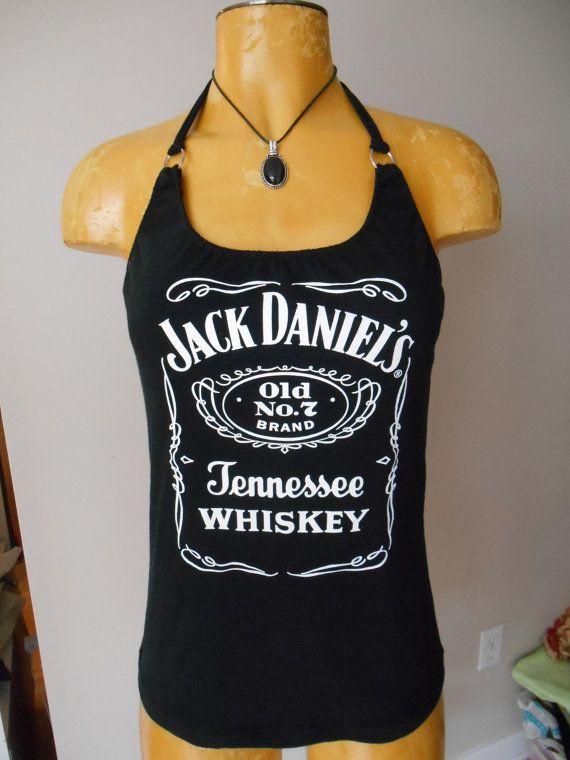 1eef4b1e765c2 Jack Daniels halter top DIY Whiskey Bartender