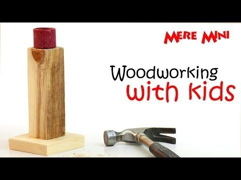 Tips for woodworking with kids. And a simple, stress-free project they can make! | Mere Mini