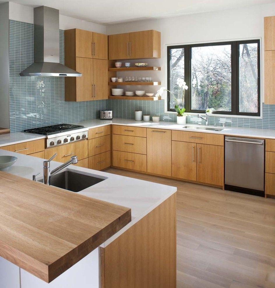 Кухонный фартук синего цвета: 15 модных фотопримеров ...