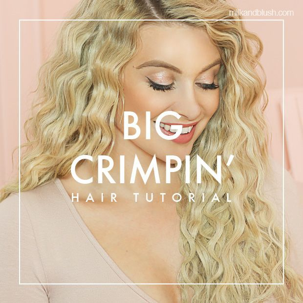 Watch Mim S Tutorial On How To Get Big Crimped Hair Waves Hair Tutorial Wavy Hairstyles Tutorial Hair Waves