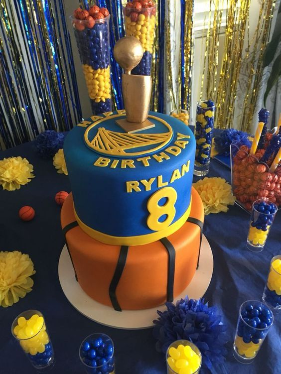 Basketball Birthday Cake and Party Ideas l mybirthday Nate