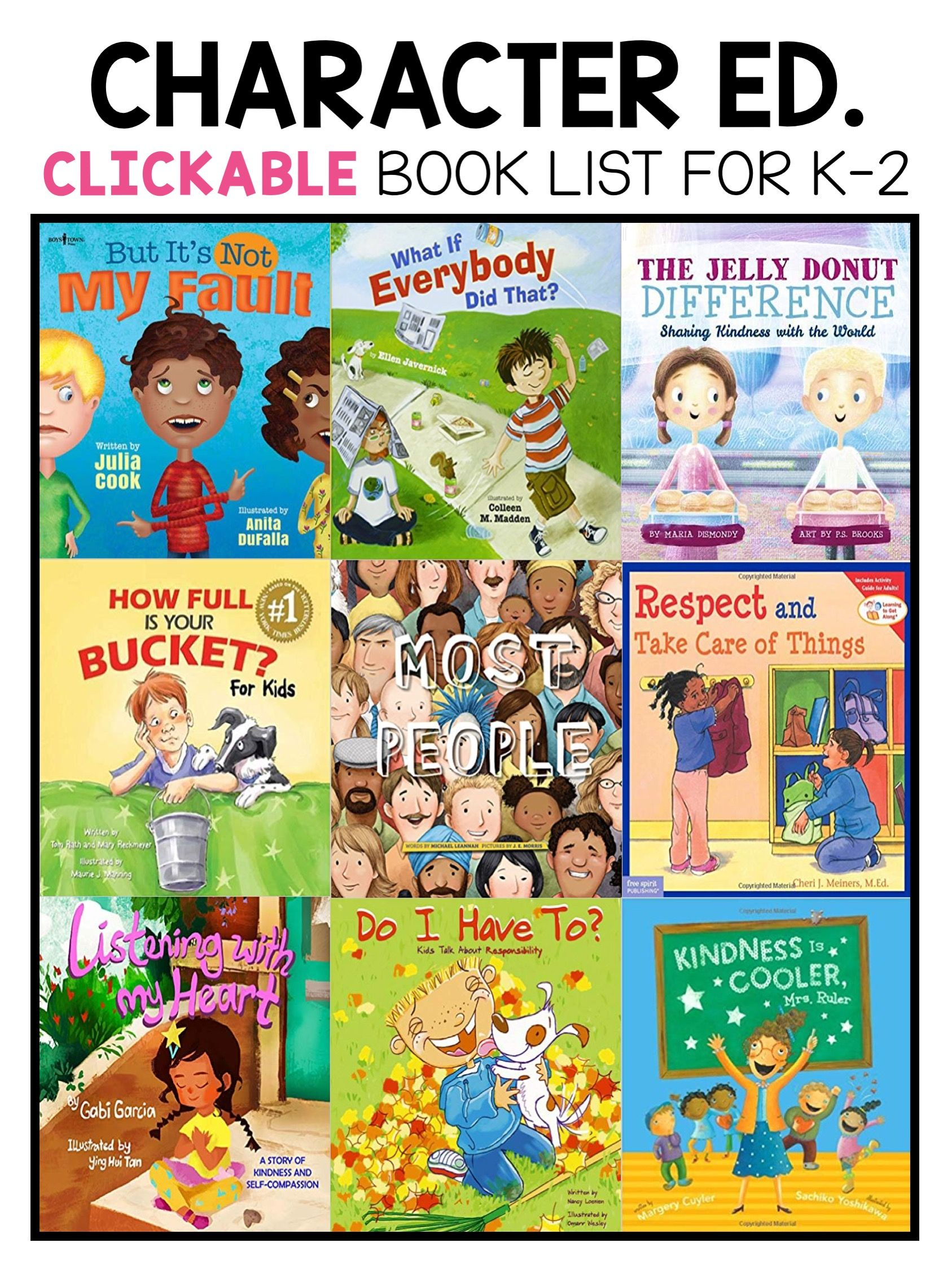Best Character Education Picture Books For Kindergarten
