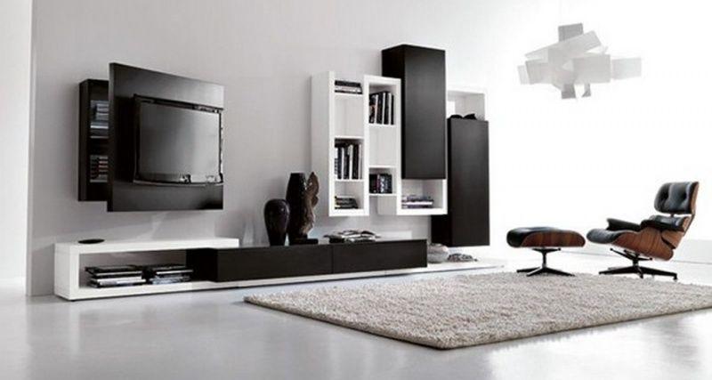 creative-side-soggiorno-laccato-nero-inverno-tv-orientabile (3 ... - Soggiorno Fimar 2