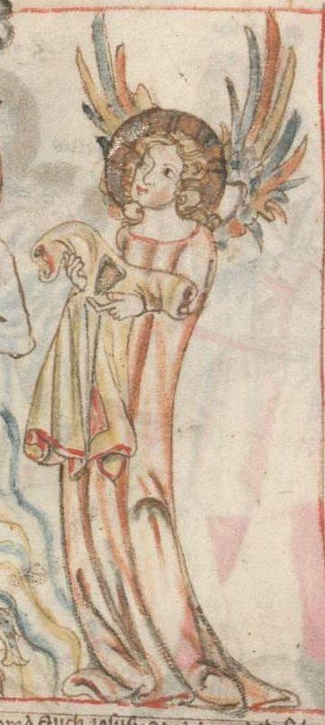 Armenbibel in 41 Darstellungen ungefähr zwischen 1360 und 1375 Cgm 20 Folio 5v