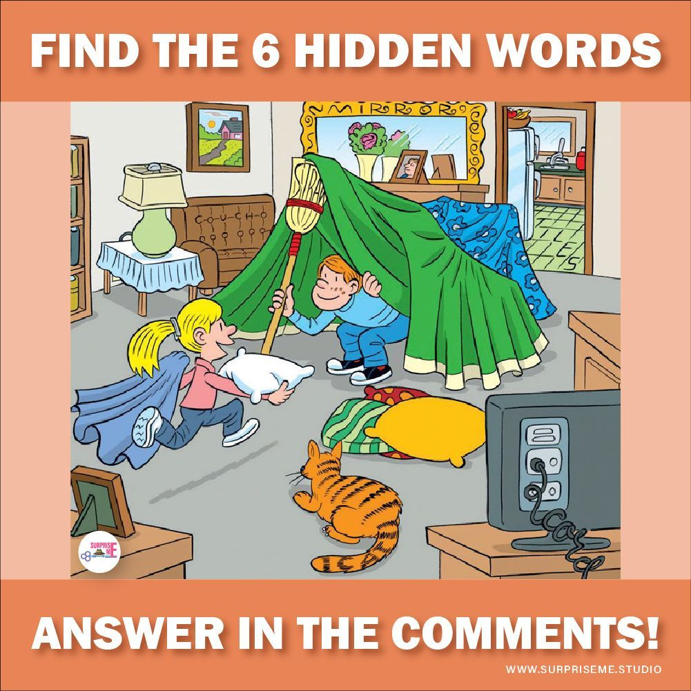 Can You Find All the Hidden Words Social Media