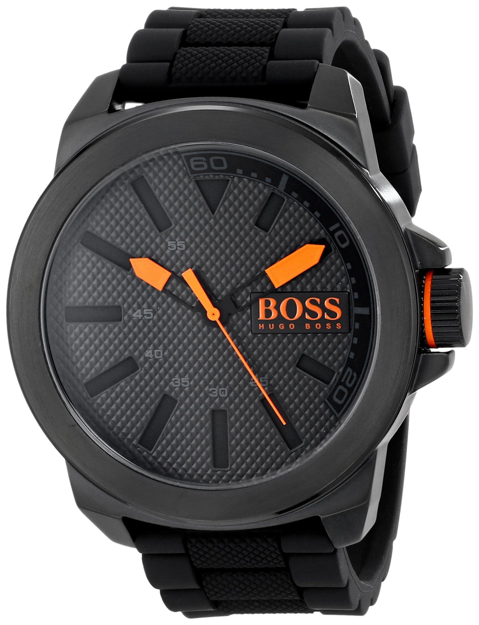 BOSS Orange Men s 1513004 New York Black Stainless Steel Watch in 2019  8b8aa3c89a