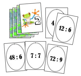 La crapette des divisions jeu sur les tables de division - Jeu sur les tables de multiplication ...