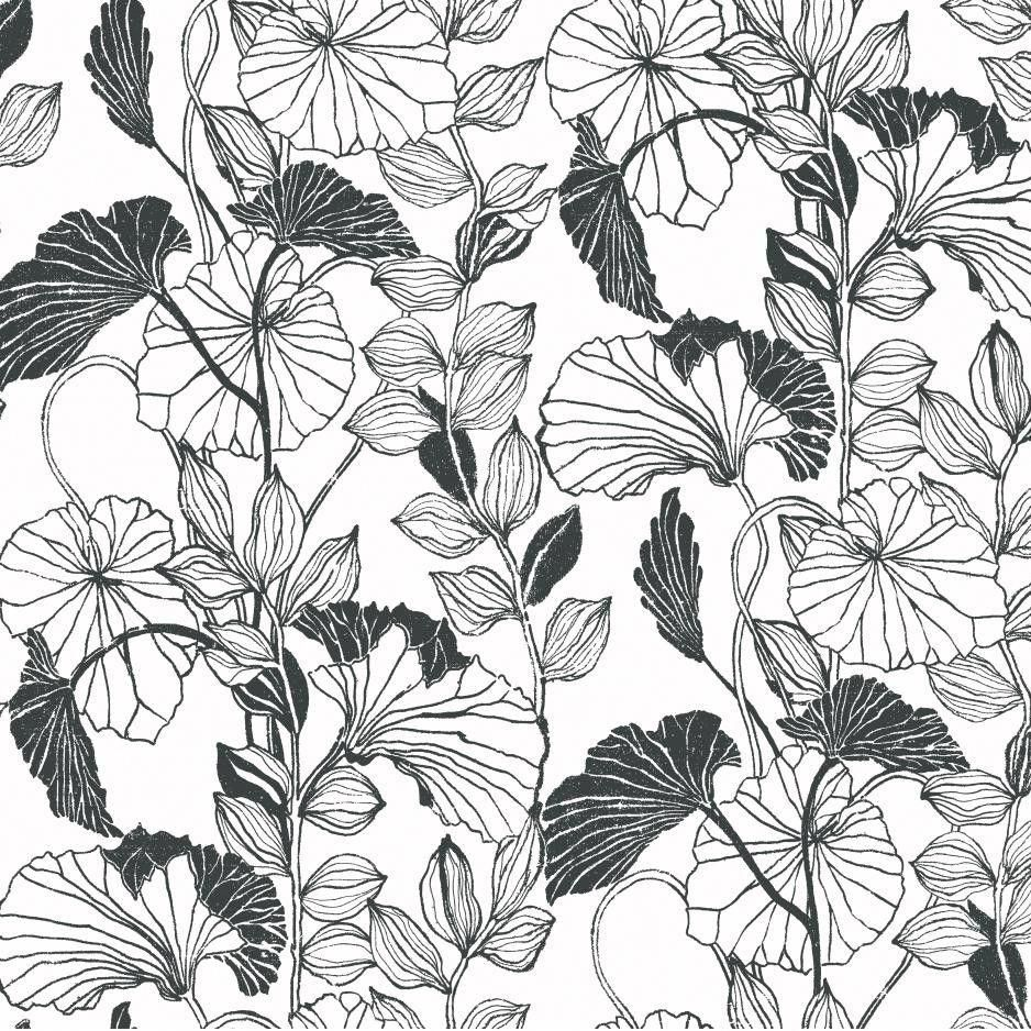 York Wallcoverings Leaf Outline Floral Botanical Wallpaper