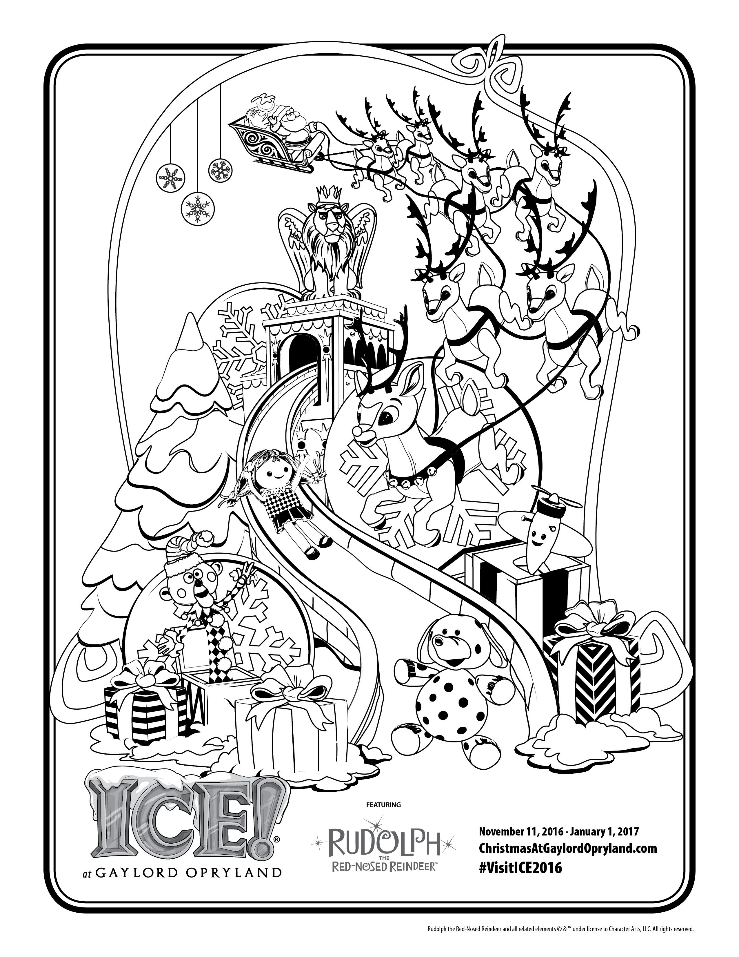 Downloadable Christmas Coloring Page From Ice Atlord