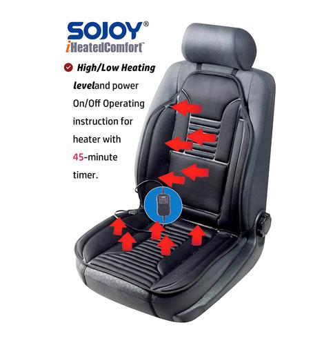 UNIVERSAL COMFORTABLE CAR VAN SEAT CUSHIONS COVER BLACK MASSAGE HEALTH Quality