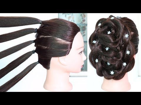 New Hairstyle With Trick Using Five Pony Wedding Hairstyle Party Hairstyle Beautiful Hairstyle Youtube Party Hairstyles Bun Hairstyles Hair Styles