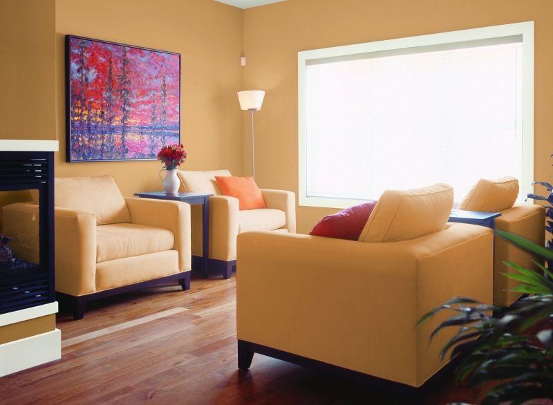 Neutrale Farbe im Wohnzimmer- Pfirsich-Nuance Haus Pinterest - wandfarben fr esszimmer