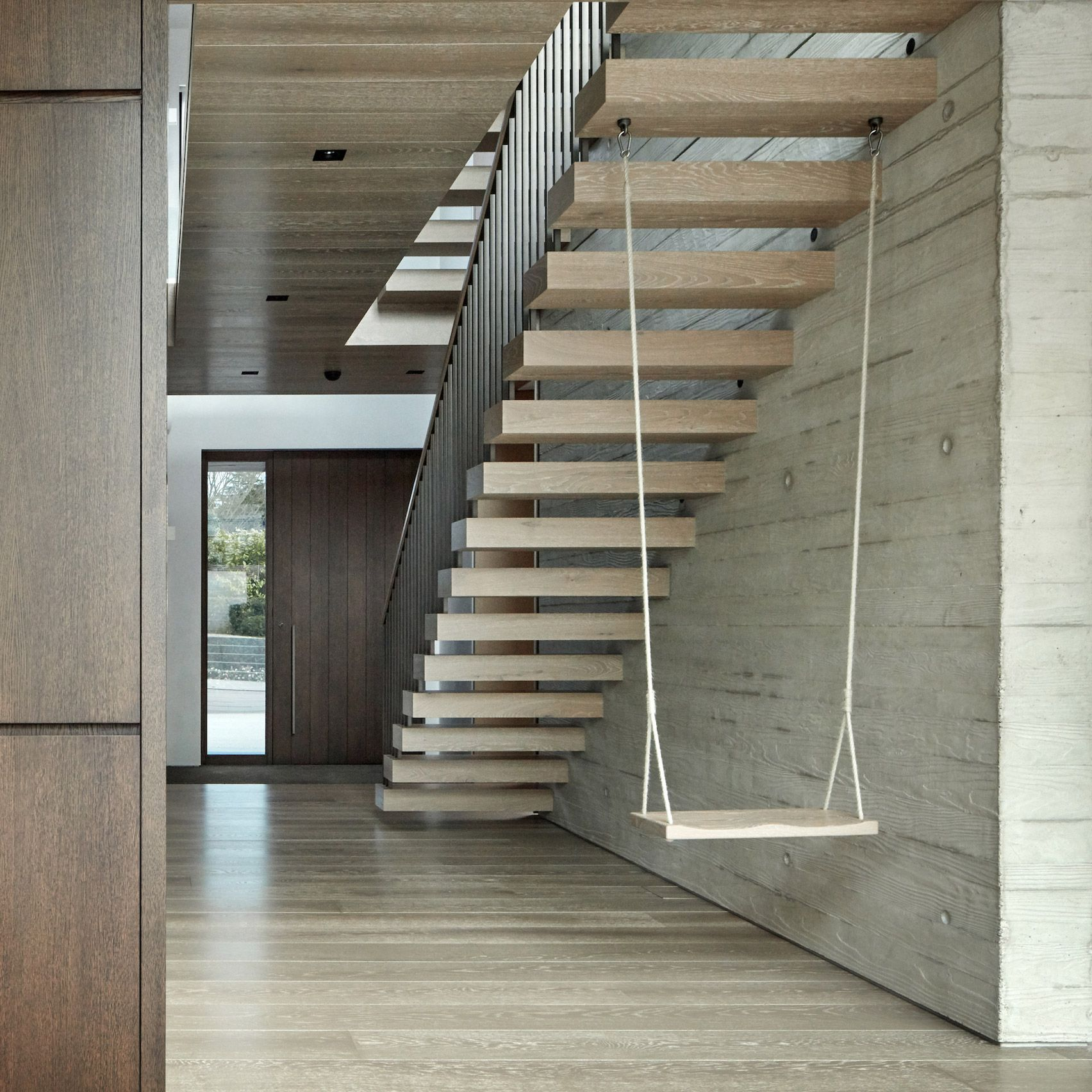 Modern Interior Staircase Materials Photo: Staircase Swing And Material Details Add Flair To Highgate