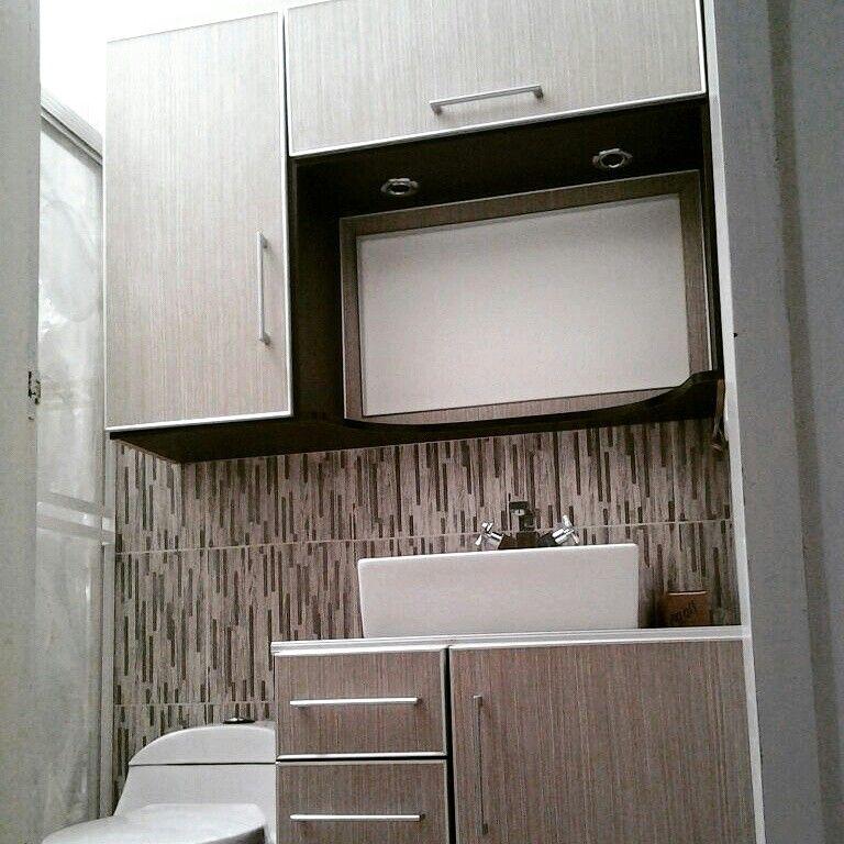 muebles para el baño hechos en melamina color serena y wengue ... - Muebles De Bano De Aluminio