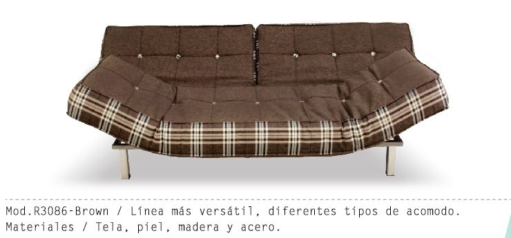 Mueble Interior Mod R3086 - Cafe #muebles #futon #salas - mueble minimalista