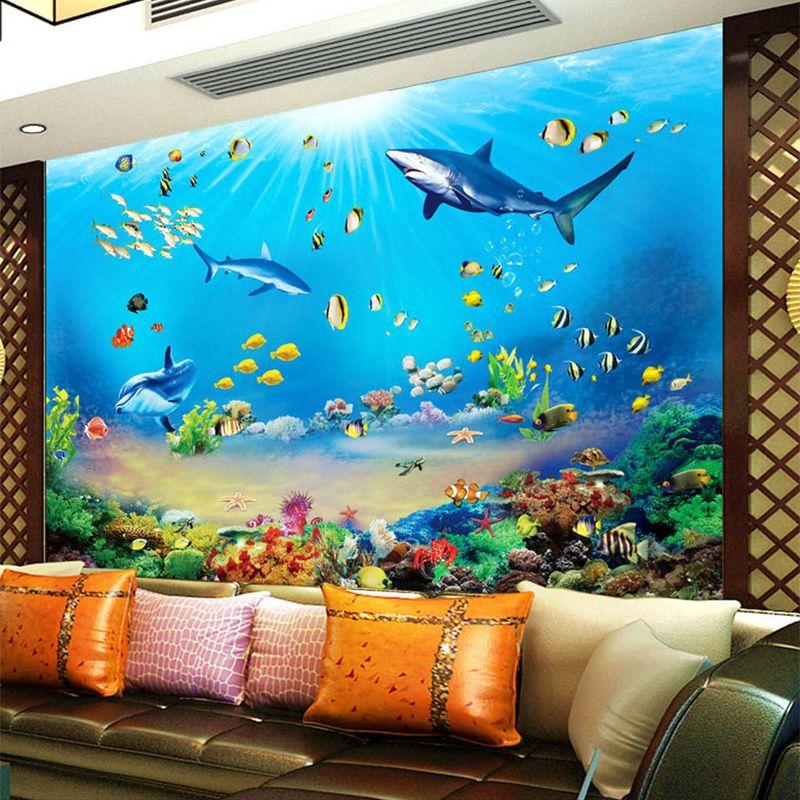 Goedkope Foto Behang HD Onderwater Wereld Shark Tropische