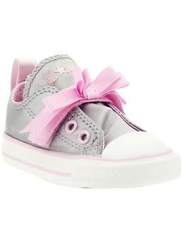 95f8f614cc40 Converse Pink Bow Simple Slip (Infant Toddler)