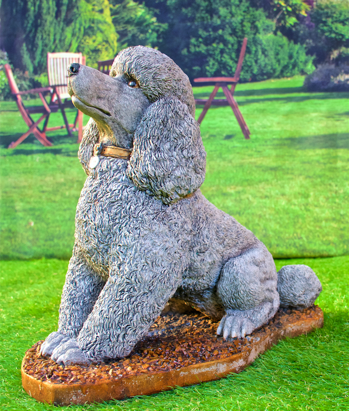 13 5 Tall Grave Marker Concrete Poodle Statue Or Use As A Memorial