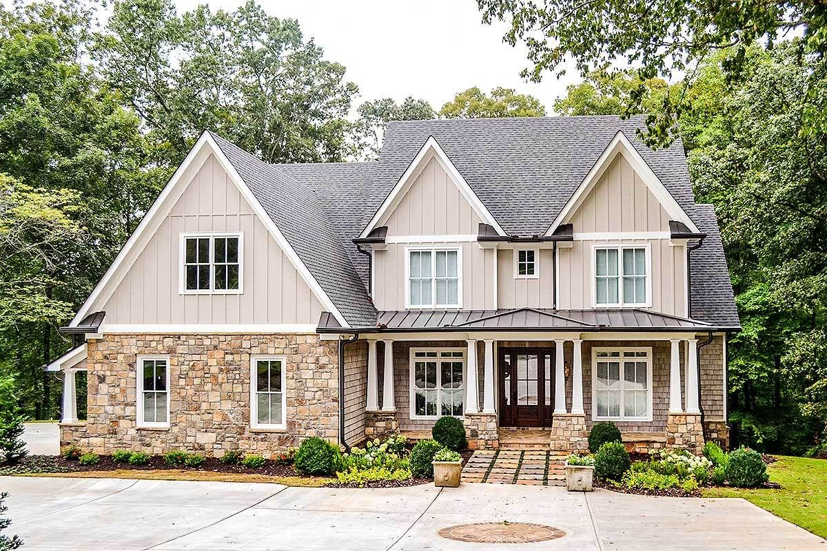 Exclusive Craftsman House Plan with Screen Porch
