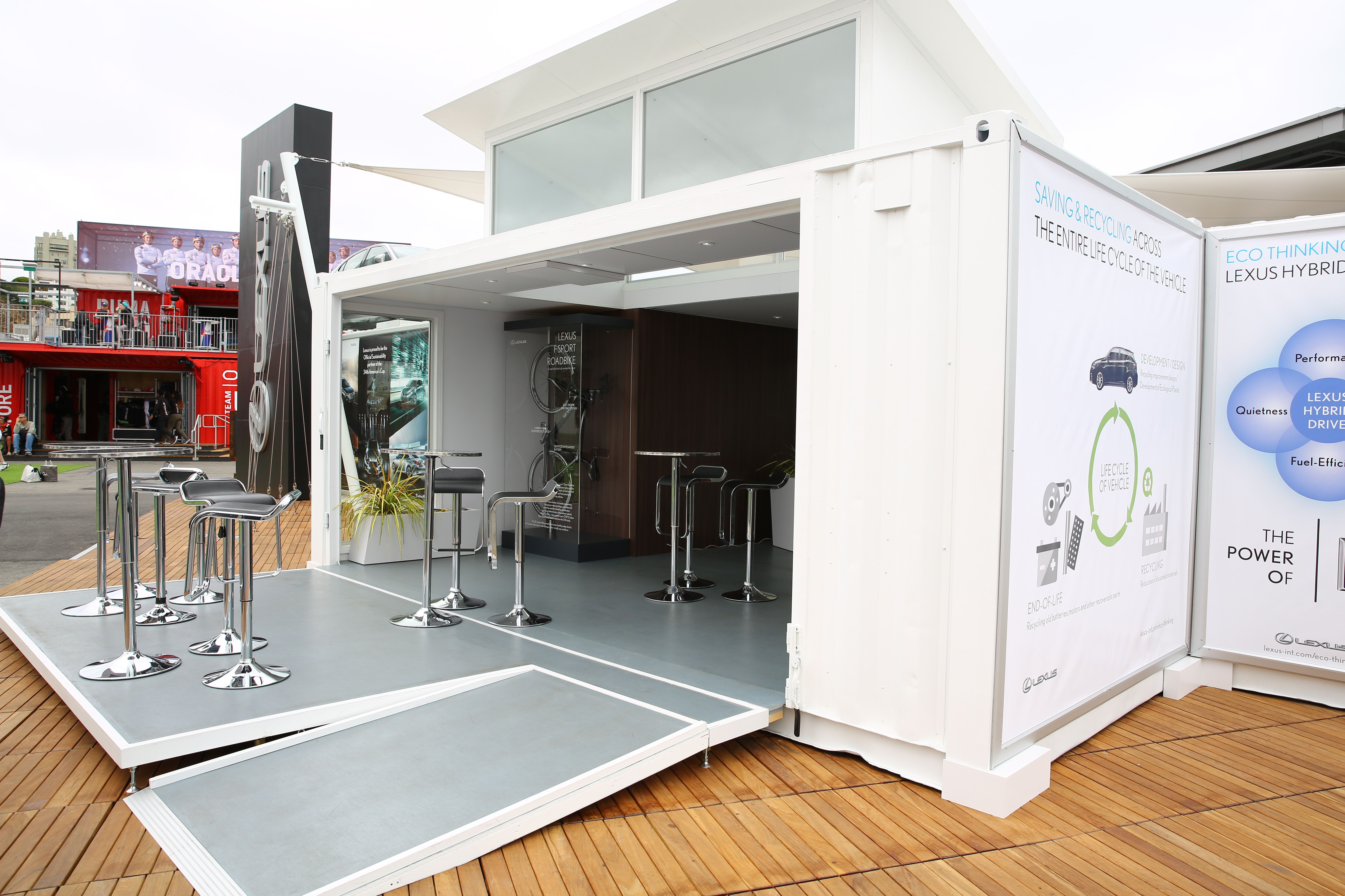 Lexus Container Stand At America39s Cup Village In San