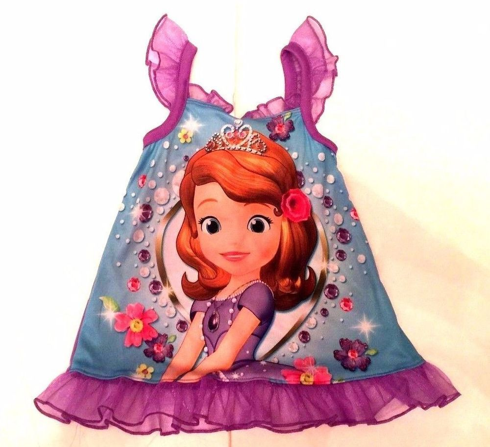 Brand New Sofia the First Purple Night Gown Size: 12 Months #Disney ...