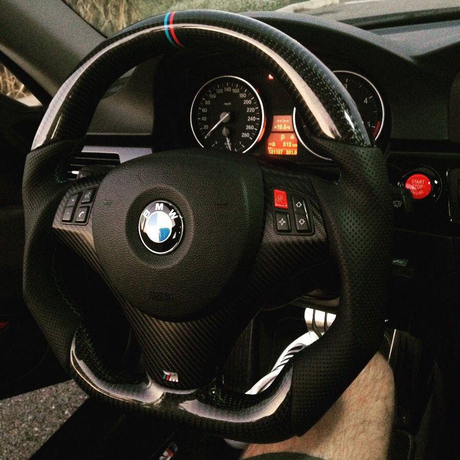 Bmw E92 Custom Steering Wheel Full Reshape Done Gloss Carbon