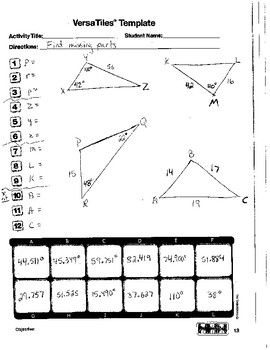 Versatiles Law Of Sines Cosines Worksheet With Images Law Of