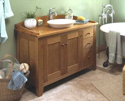 Shaker Style Cherry Vanity Woodworking Plan