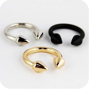 Vintage Exaggerated copper Rivet Arrows Finger Rings For Women