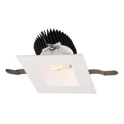 "WAC Lighting Aether Adjustable 5.13"" LED Recessed Lighting Kit Trim Finish: White"