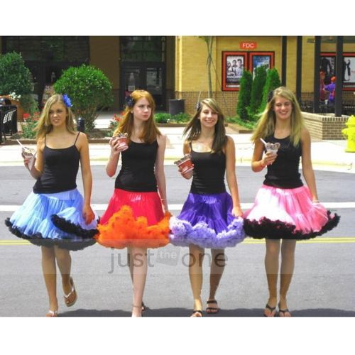 Adult Womens Teen Girls Chiffon Princess Pettiskirt Full Party Ballet Tutu Skirt | eBay $20