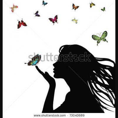 Stock Vector   Silhouette art, Girl silhouette, Woman ...  Face Profile Silhouette Blowing