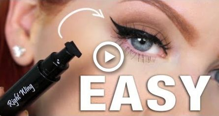 easy winged eyeliner  allinone stamp  pen review