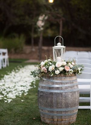 Outdoor wedding decoration ideas with wine barrel and lanterns outdoor wedding decoration ideas with wine barrel and lanterns junglespirit Choice Image