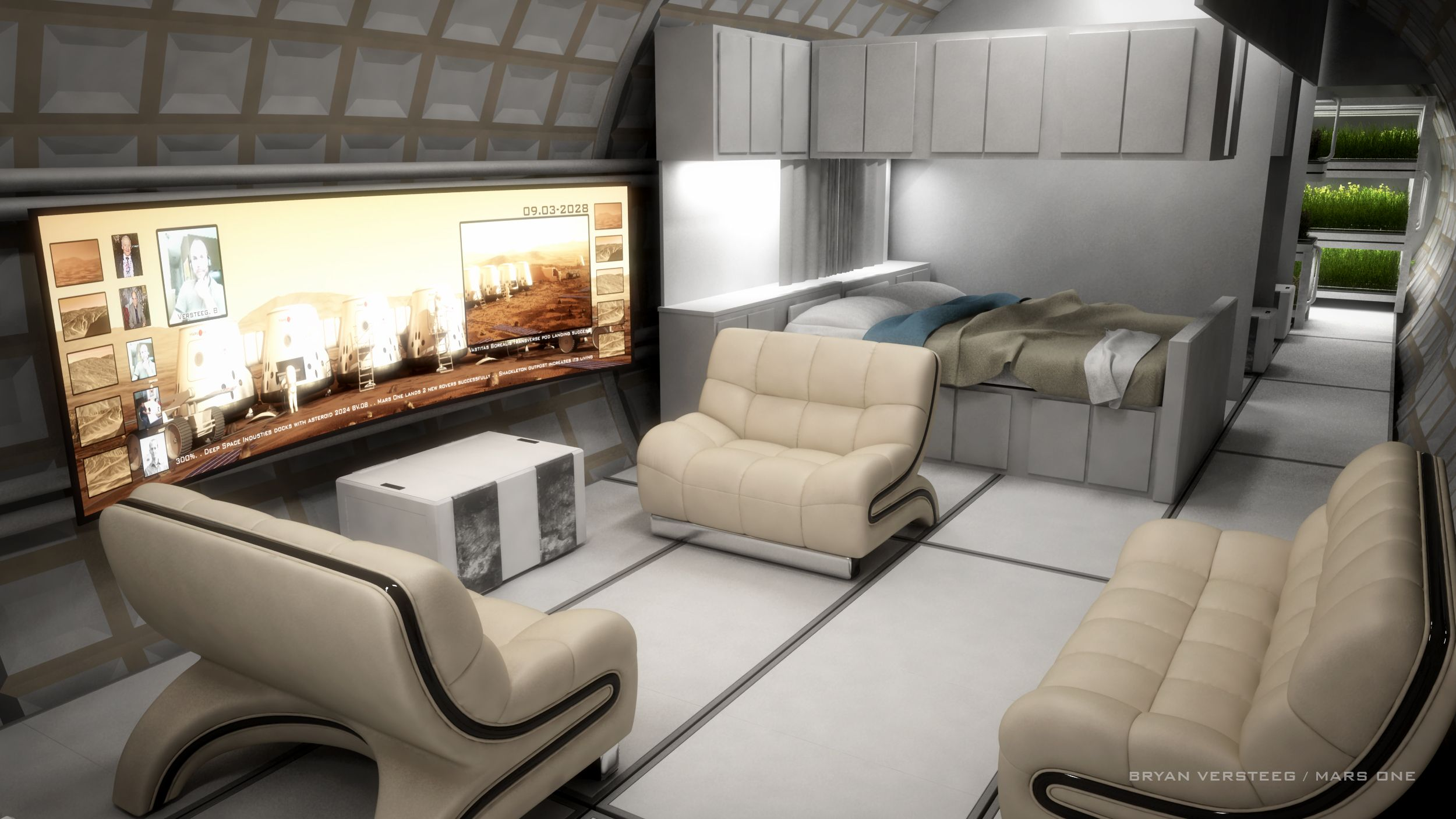 A conceptual design of the living area of the Mars One ...