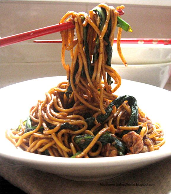 chinese fried egg noodles.
