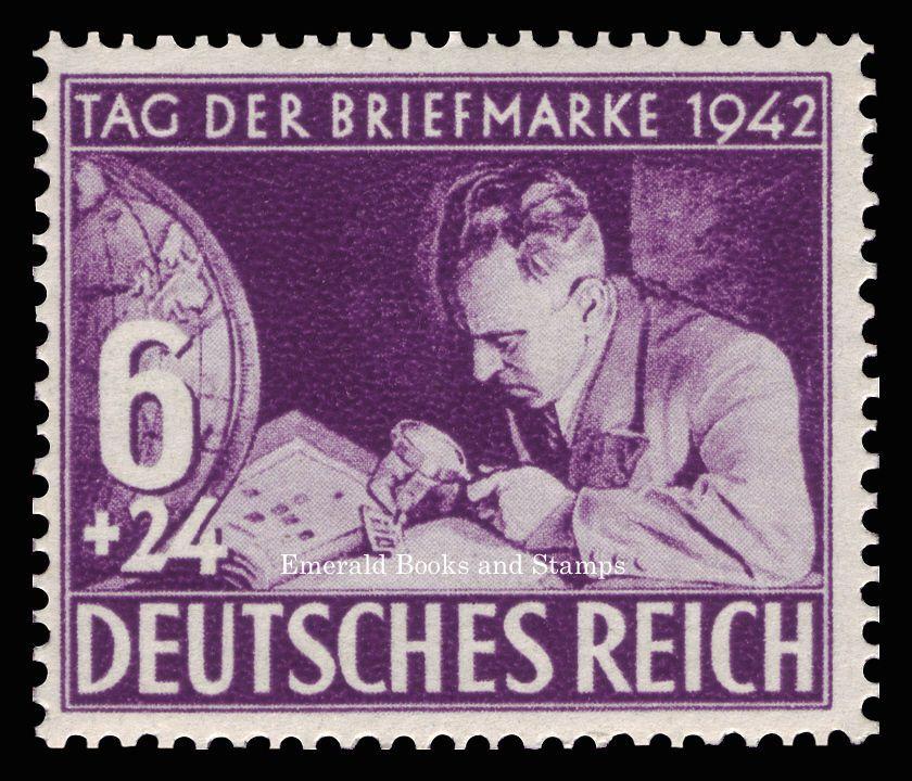 Details About Ebs Germany 1942 Stamp Day Tag Der Briefmarke