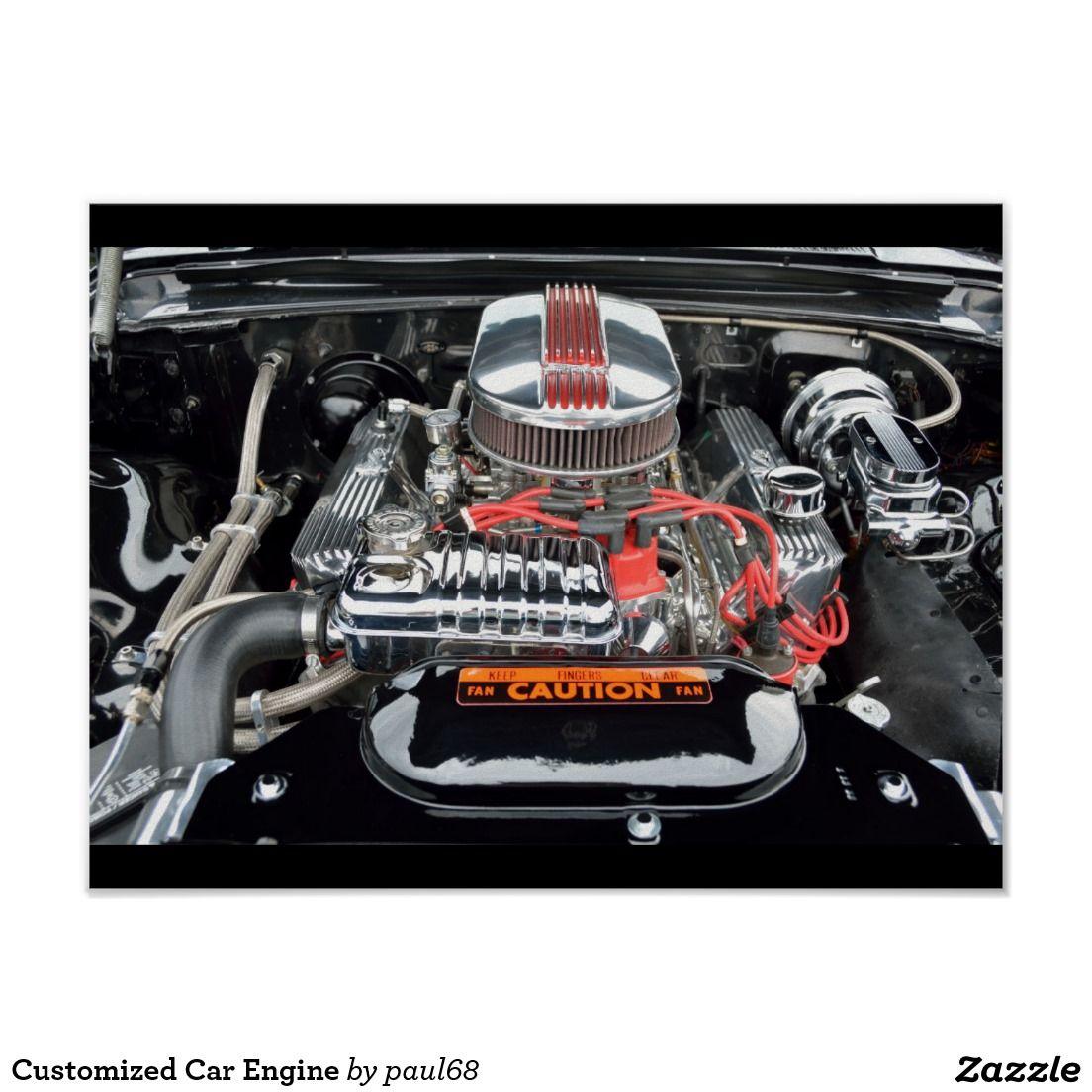 Customized Car Engine Poster Дизельный