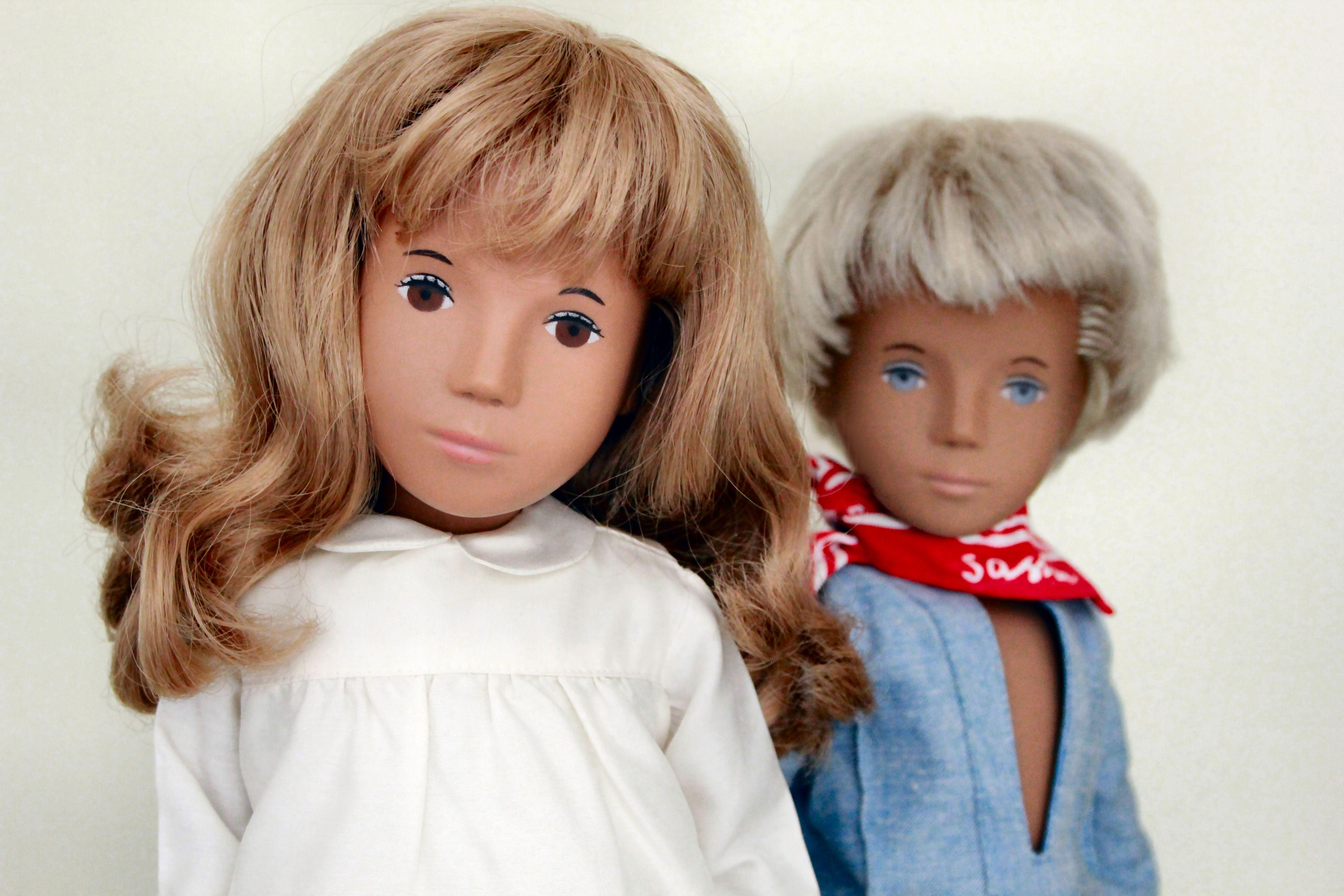 A Sasha Honey Blonde Silk Dress Doll No 101 And A Gregor Fair Blue Suit Doll No 302 United Kingdom 1974 1986 By Trendo Sasha Doll Dolls Handmade Dolls