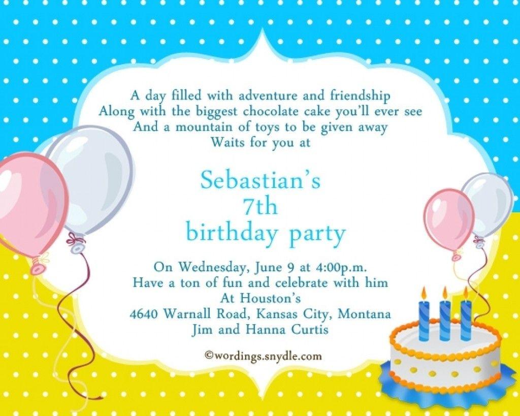 20 sample invitation of 7th birthday template barndogsde