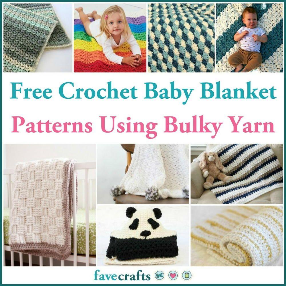 17 Free Crochet Baby Blanket Patterns Using Bulky Yarn | Baby ...